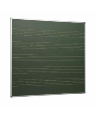 Pizarra verde laminada con 5 pentagramas y marco de aluminio