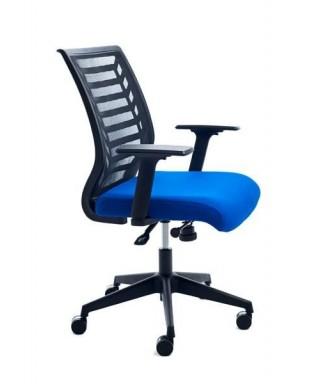 Silla operativa oficina con ruedas (azul)