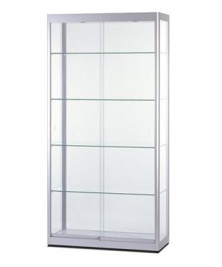 Vitrina expositora Aluminium con puertas correderas (con iluminación)