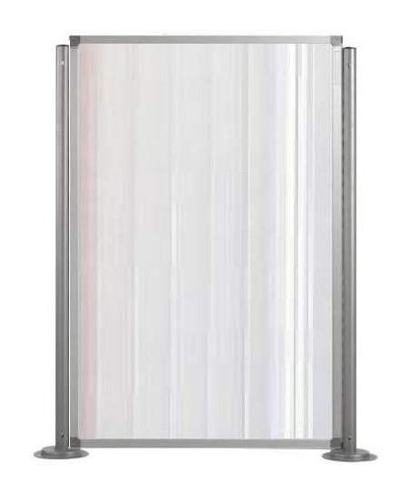 Biombos modulares altura 180 cm (ejemplo composición 1 panel policarbonato traslúcido con 2 columnas)
