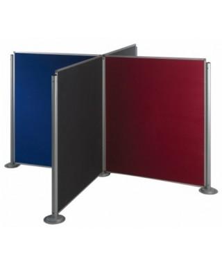 Biombos modulares altura 150 cm (ejemplo composición 3 paneles tapizados con 4 columnas)