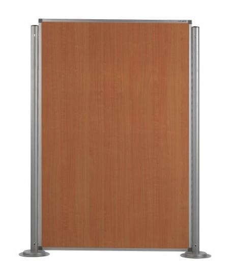 Biombos modulares altura 180 cm (ejemplo composición 1 panel madera color haya con 2 columnas)
