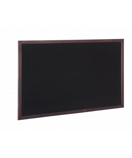 Pizarra negra Hostelco con marco marrón oscuro