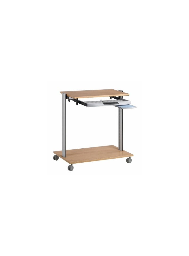 Mobiliario de oficina escolar mesa para ordenador for Mesa de ordenador con ruedas