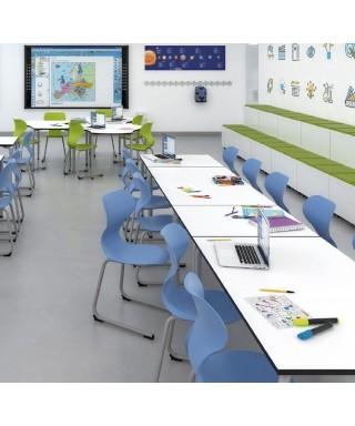 Mesa escolar aula colaborativa Rectangle