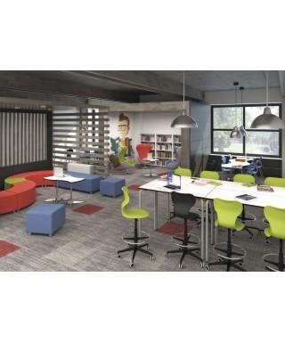 Mesa escolar aula colaborativa Rectangle Plus