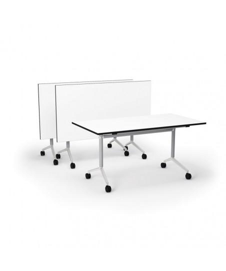 Mesa plegable con ruedas para reuniones y multiusos