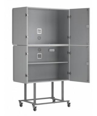 Armario móvil para pantallas planas (altura 190 cm color gris)