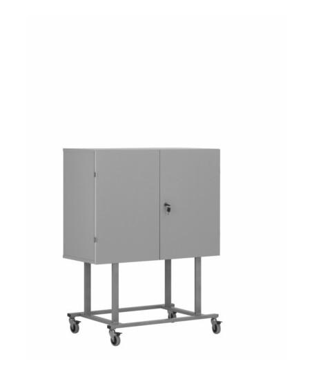 Armario móvil para pantallas planas (altura 120 cm color gris)