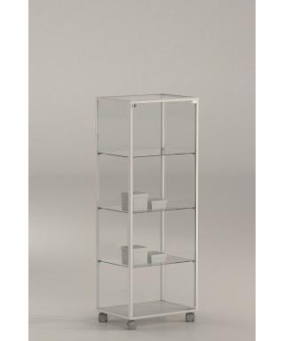 Vitrina 140x51x37 cm aluminio blanco y vidrio Ref. E4-V115