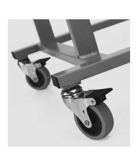 Armario móvil para pantallas planas (detalle ruedas con freno)