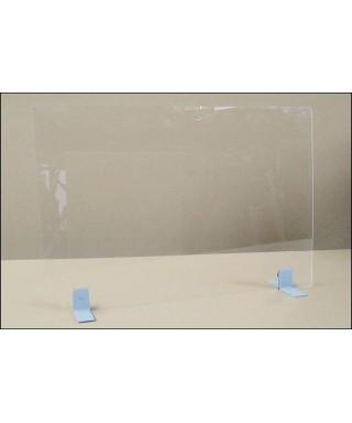 Mampara de vidrio templado con soportes