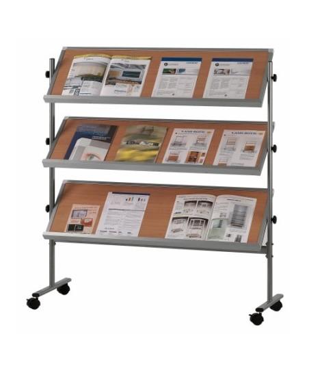 Expositor móvil 3 estantes (color haya)