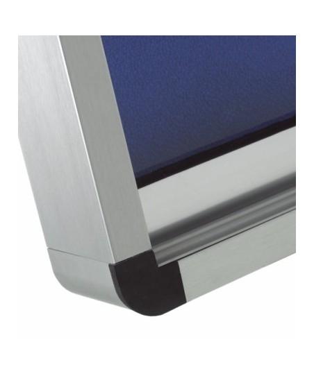 Vitrina convencional aluminio puertas correderas (fondo corcho)