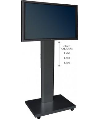Soporte móvil graduable en altura manual para pantallas planas