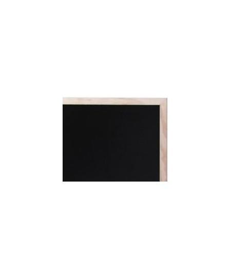Pizarra negra Hostelco con marco natural