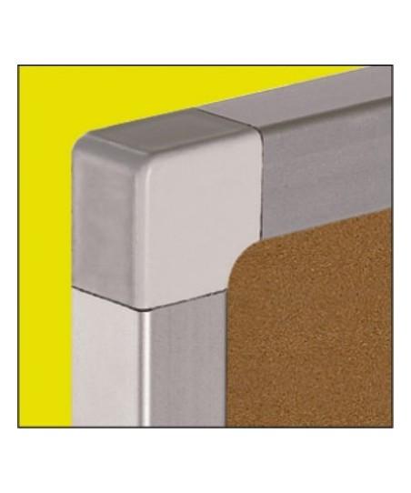 Tablero corcho marco de aluminio