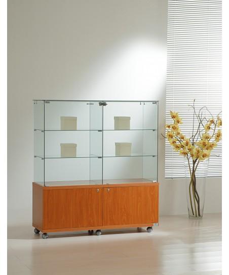 Vitrinas altura 130 cm vidrio y buck
