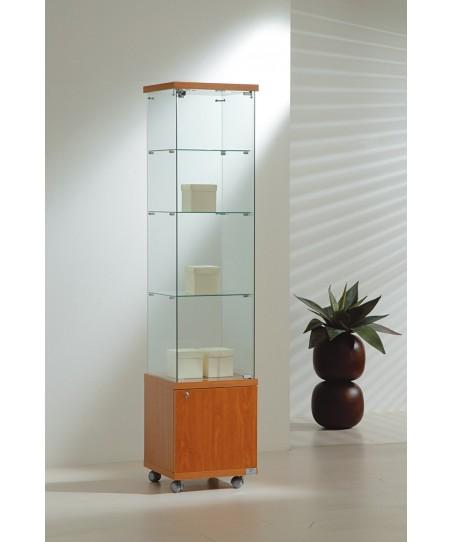 Vitrinas altura 181 cm vidrio, buck e iluminación