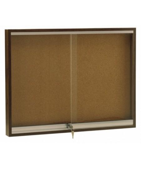 Vitrina convencional madera puertas correderas (color nogal)