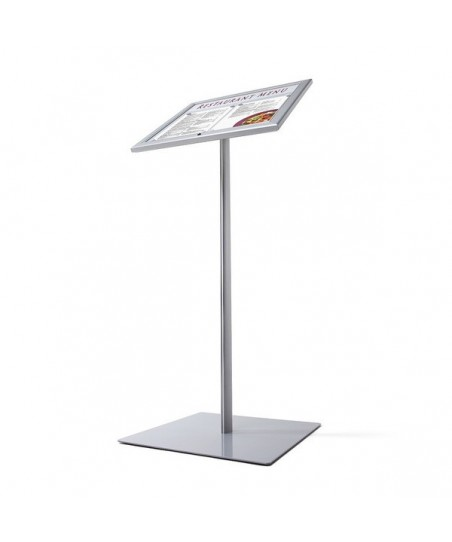 Vitrina de menú exterior de pie con portalogo y luz LED