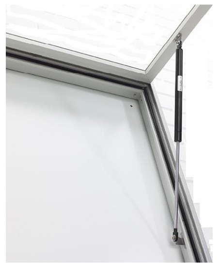 Vitrina V-3000 - Esquinas rectas (puerta batiente)