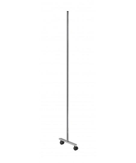 Rejilla de exposición modular (pie con ruedas color gris)