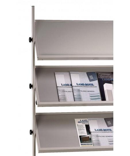 Expositor móvil 3 estantes (color gris)