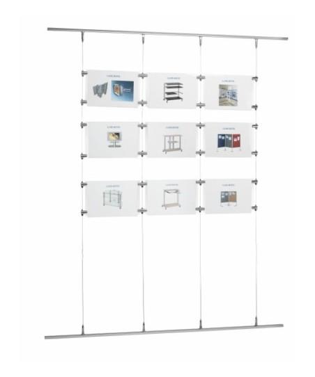 Sistema de cables mural (ejemplo composición)