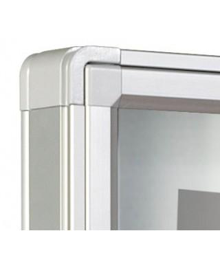 Vitrina V-3000 - Esquinas redondeadas (una puerta batiente)
