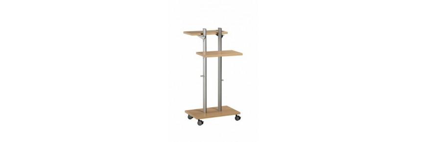 Muebles auxiliares para equipos de proyección