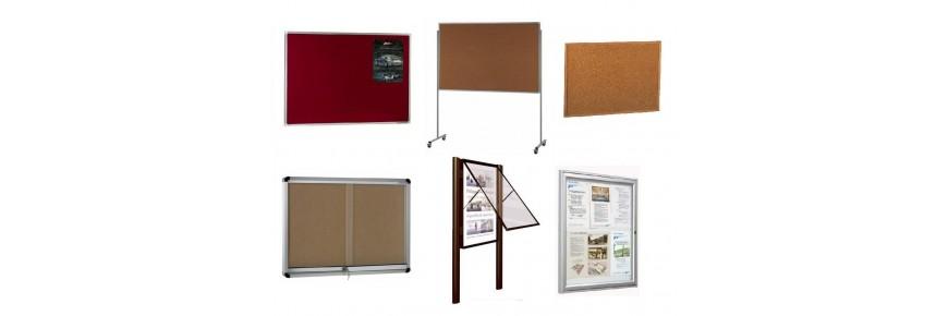Tableros y vitrinas de anuncios