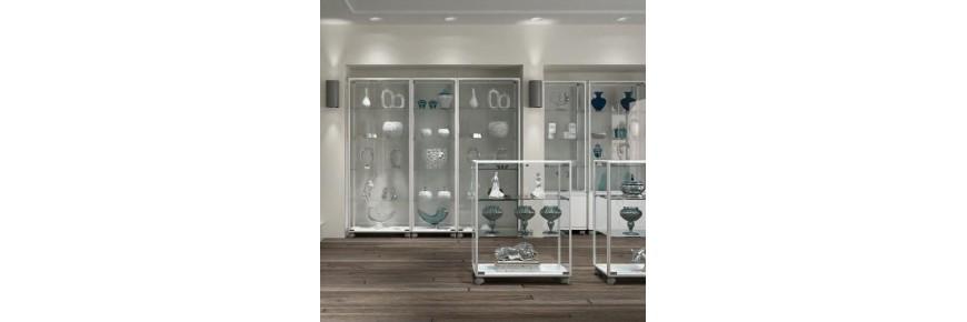 Vitrinas de exposición modelo Aluminium White