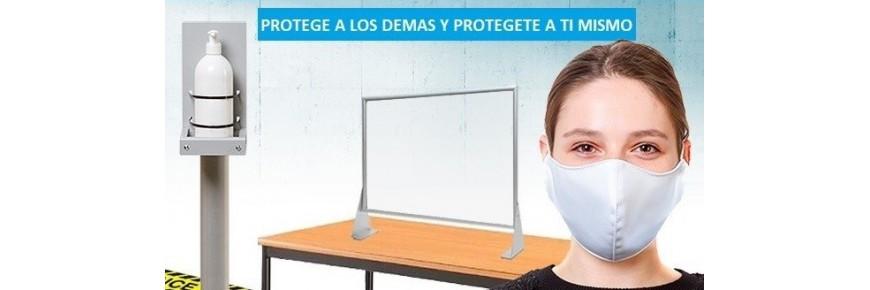 Productos de protección y prevención, soluciones anti-contagio